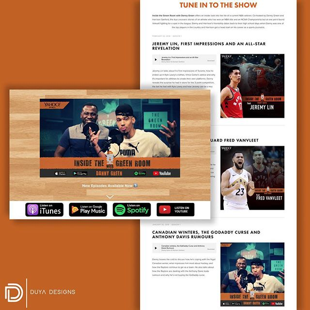 Website designed for @insidegreenroom 🏀🎙