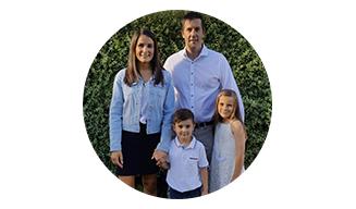 Sarah Kousal and her family