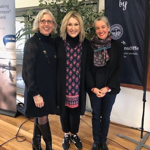 An honour to be able to share stories with empathy and laughter at 'Welcome to the Motherhood 'with Meshel Laurie and Hilary Harper as part of the Queenscliff Literary Festival. #motherhood #parentchildrelationship #parentcoach101 #family