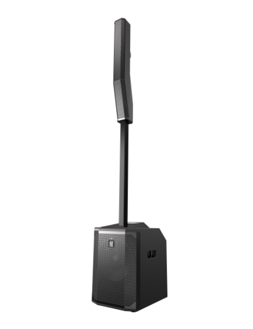 EVOLVE 50 - The EVOLVE 50 Portable Column System is a three component loudspeaker system powered by a 1000 W Class-D amplifier and driven by Electro-Voice's QuickSmartDSP.The new Electro-Voice QuickSmart Mobile application utilizes Bluetooth® Low Energy (BTLE) technology for the wireless configuration, control, and monitoring of up to six EVOLVE 50 systems simultaneously. High resolution Bluetooth® audio streaming adds convenience for wireless music playback in breakout rooms, intermission, and musical accompaniment.Bluetooth® is available in select countries.