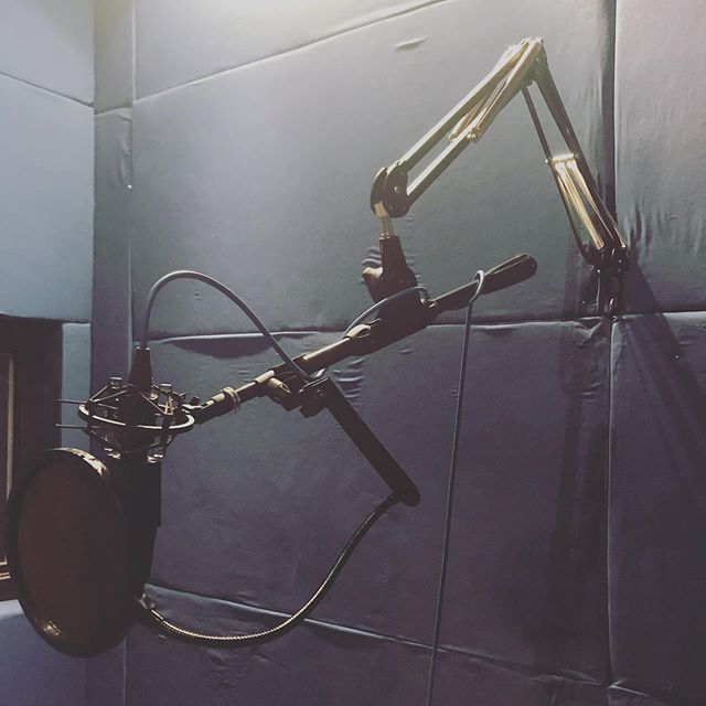 New boom, who dis? #telescoping #boom #recording #booth