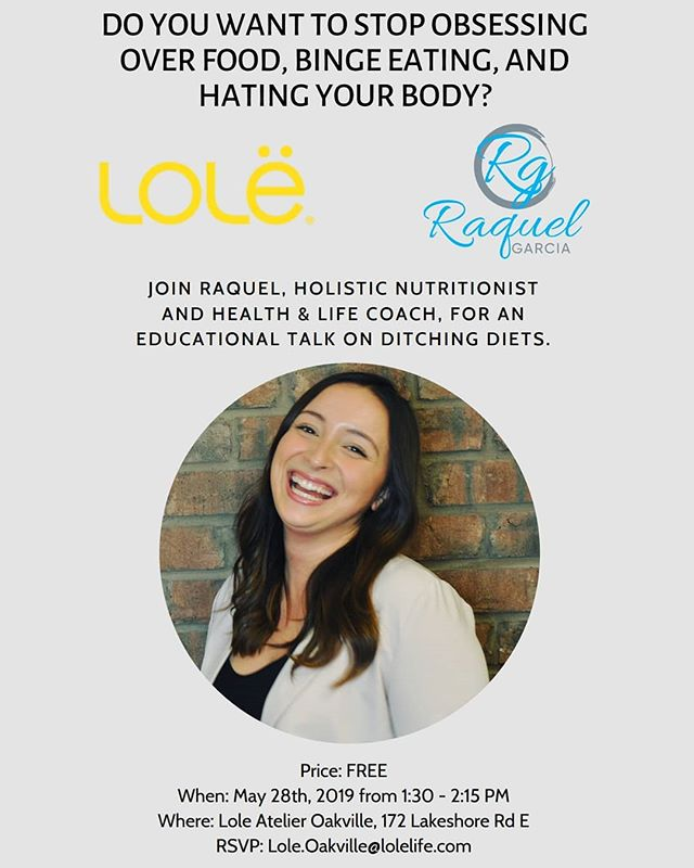 Join me on May 28th for a free chat on diet culture, body image, and how we can heal our relationship to food with intuitive eating! ✨🥑 . All of the details are above and you can click the link in my bio to RSVP (it is totally free though) 🆓 ☝🏼