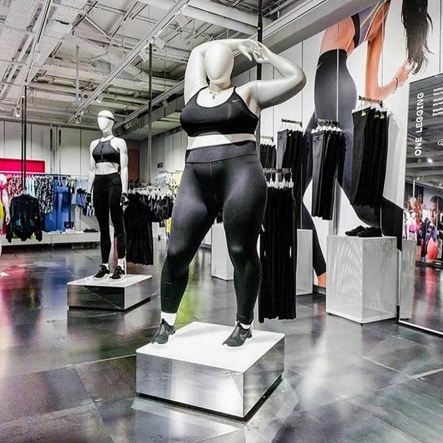 Yes @nikelondon 👏👏👏👏 It is about time we saw different body shapes and sizes being represented in clothing stores! 🎉