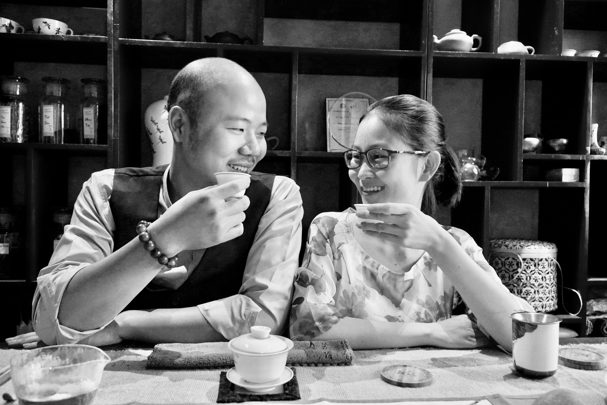 Yen & Hung - Hien Minh Teahouse - Hanoi, Vietnam