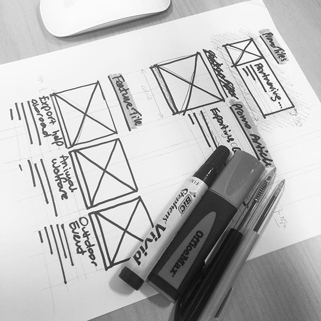 Sometimes a pen and paper is the best tool for the job. #keepitsimple #ux #ui #prototype #gridsystem