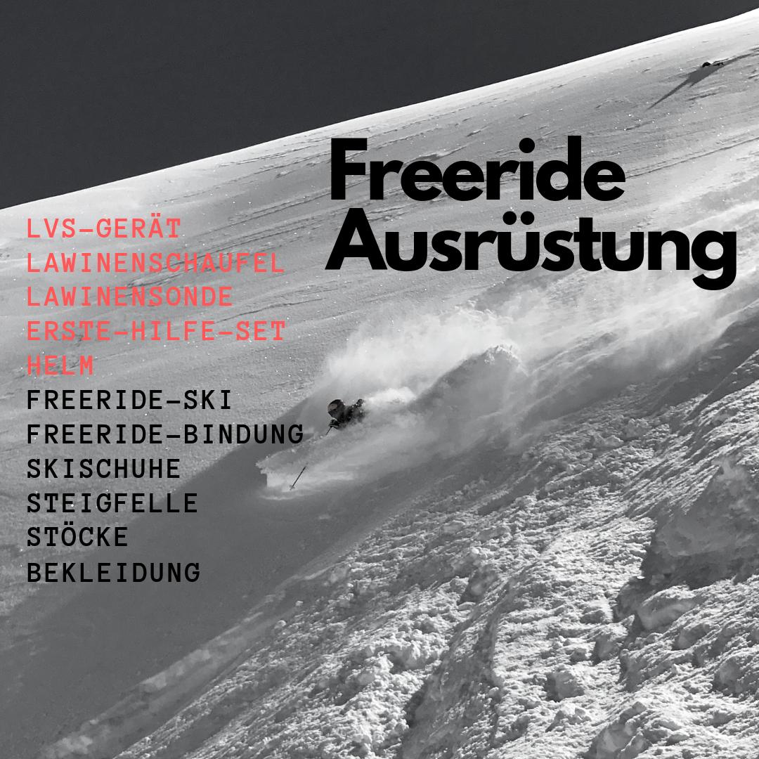 Ski Freeride Ausrüstung für Spass und Sicherheit im Powder