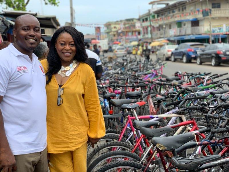 Pastor Jameliah with Bishop Davis Tachie