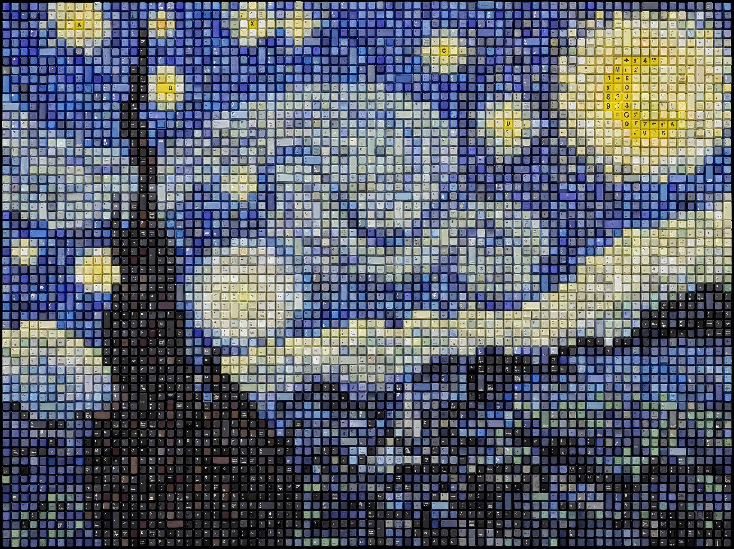 STARRY NIGHT  | 44 X 57 in   ORIGINAL  |  PRINTS