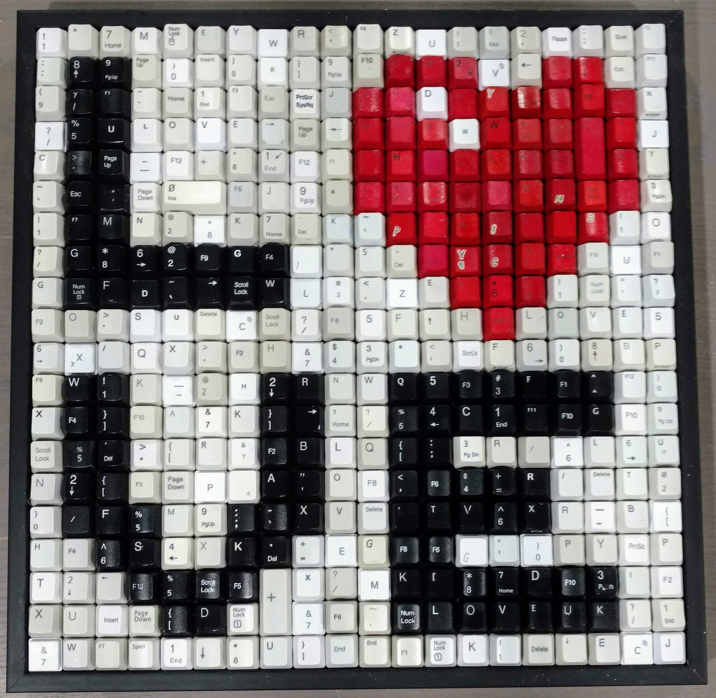 LOVE - WHITE BACKGROUND  | 15 X 15 in   ORIGINAL