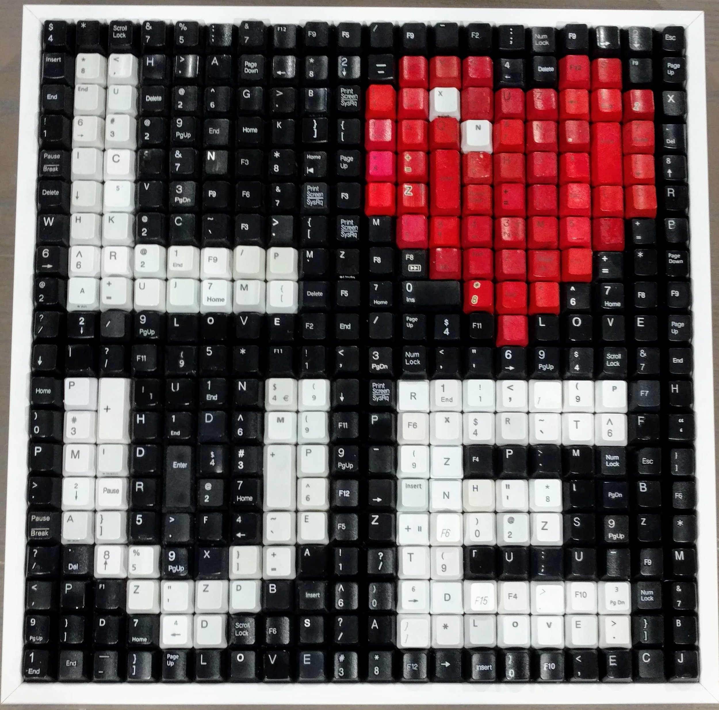 LOVE - BLACK BACKGROUND  | 15 X 15 in   ORIGINAL