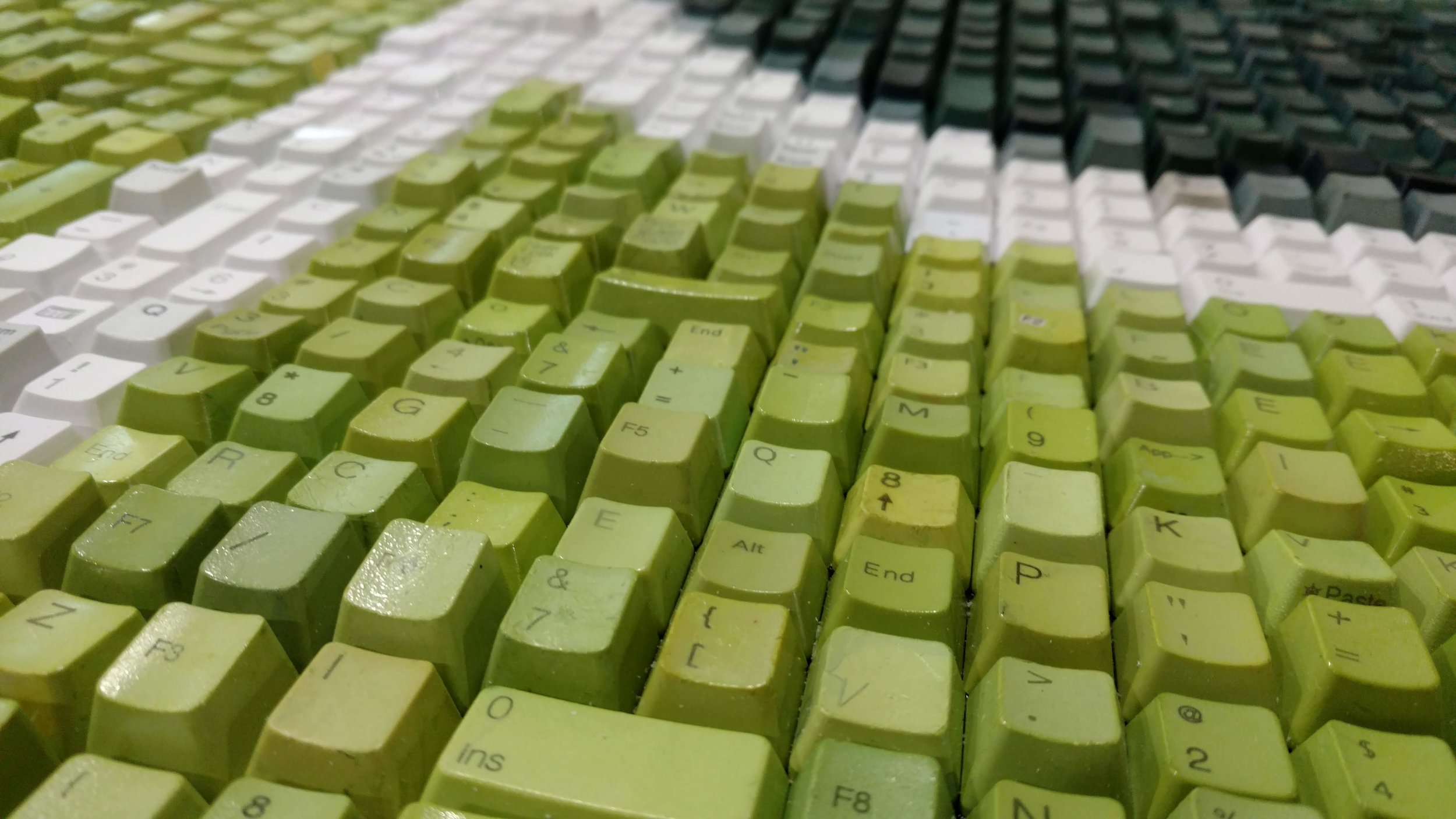 Close up of the texture and color of keys