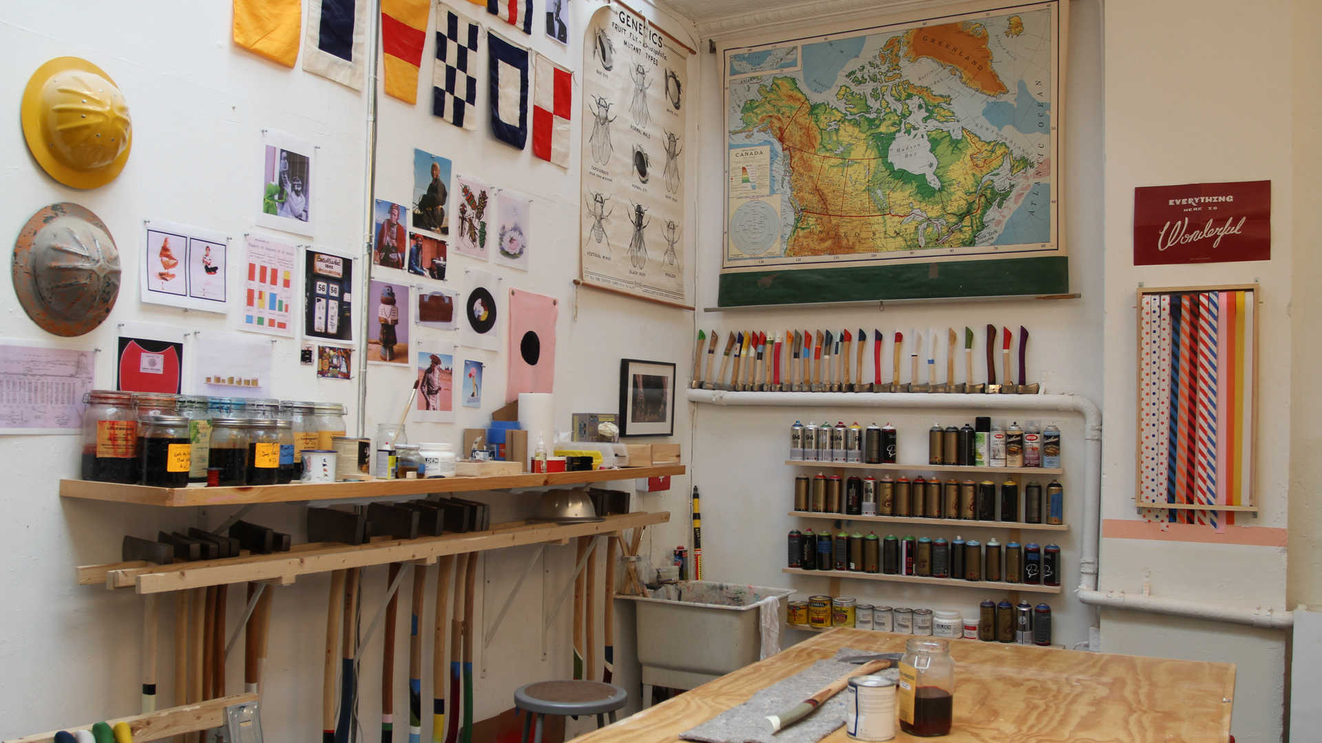 """Someday I would have my own creative space, from which my own brand of magic would emerge.""  The first Manhattan-based Best Made Co. workshop, located at 368 Broadway in Tribeca. Photograph by PBS"
