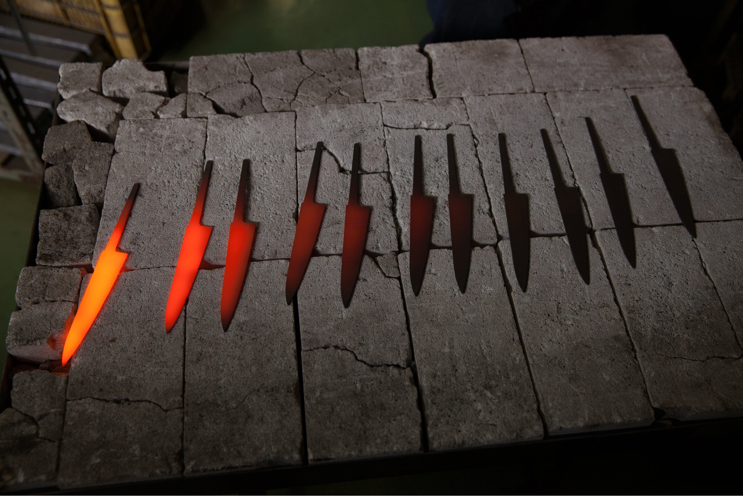 Forged by hand : Watching Best Made Santoku knives being made in Japan. Photograph by PBS