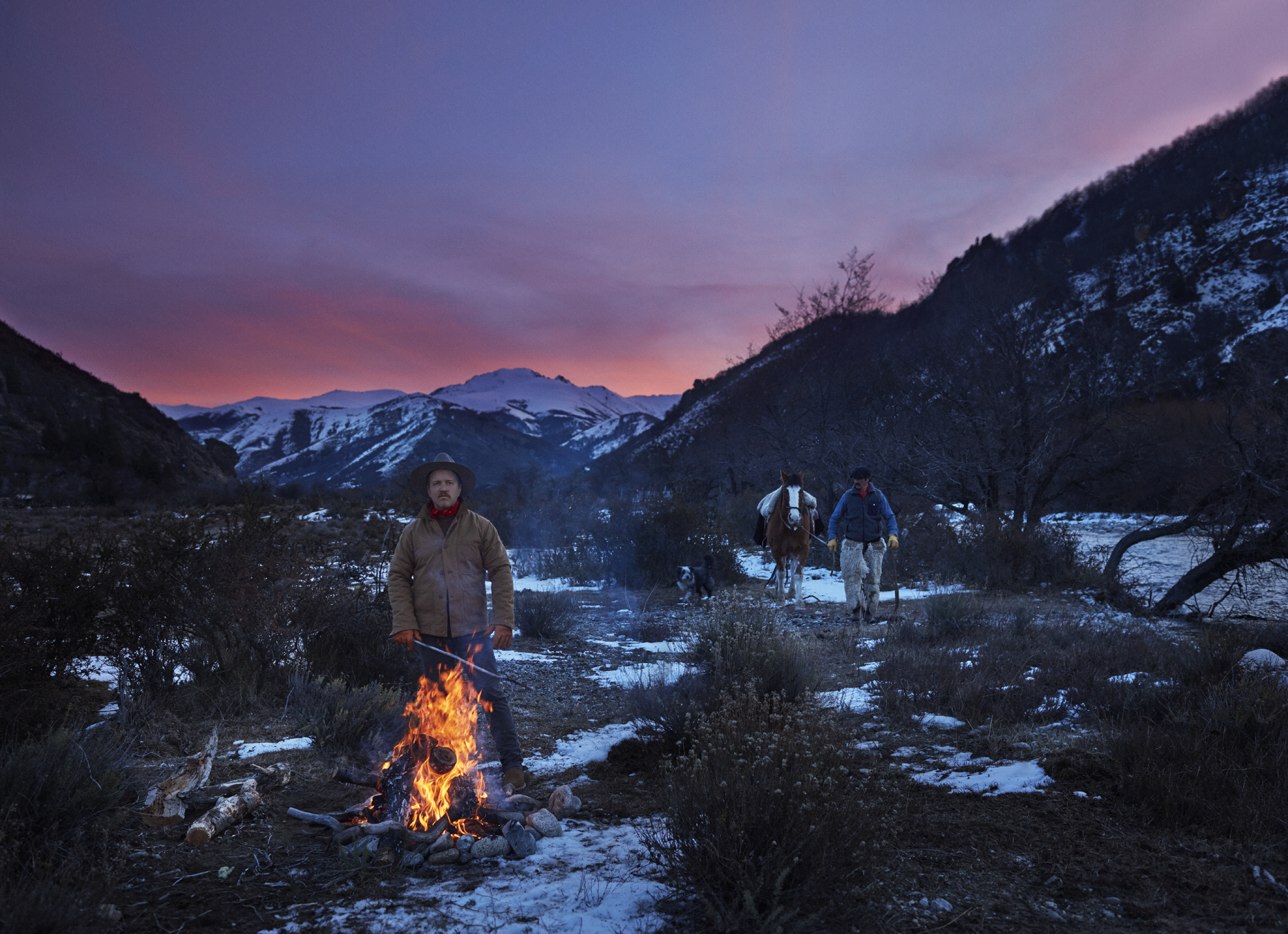 On my adventure of making:  tending a campfire in a remote pass in Patagonia, Argentina. Photograph by Jason Frank Rothenberg