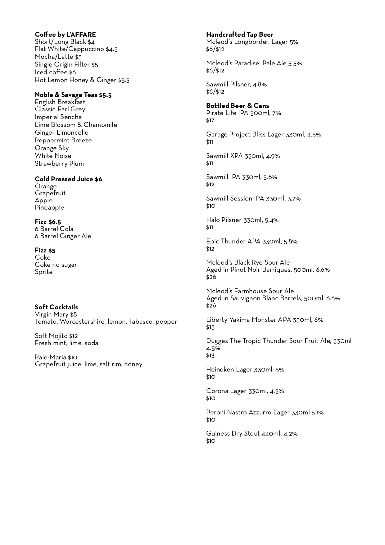 THE new Winelist- Drinks only page 1.jpg