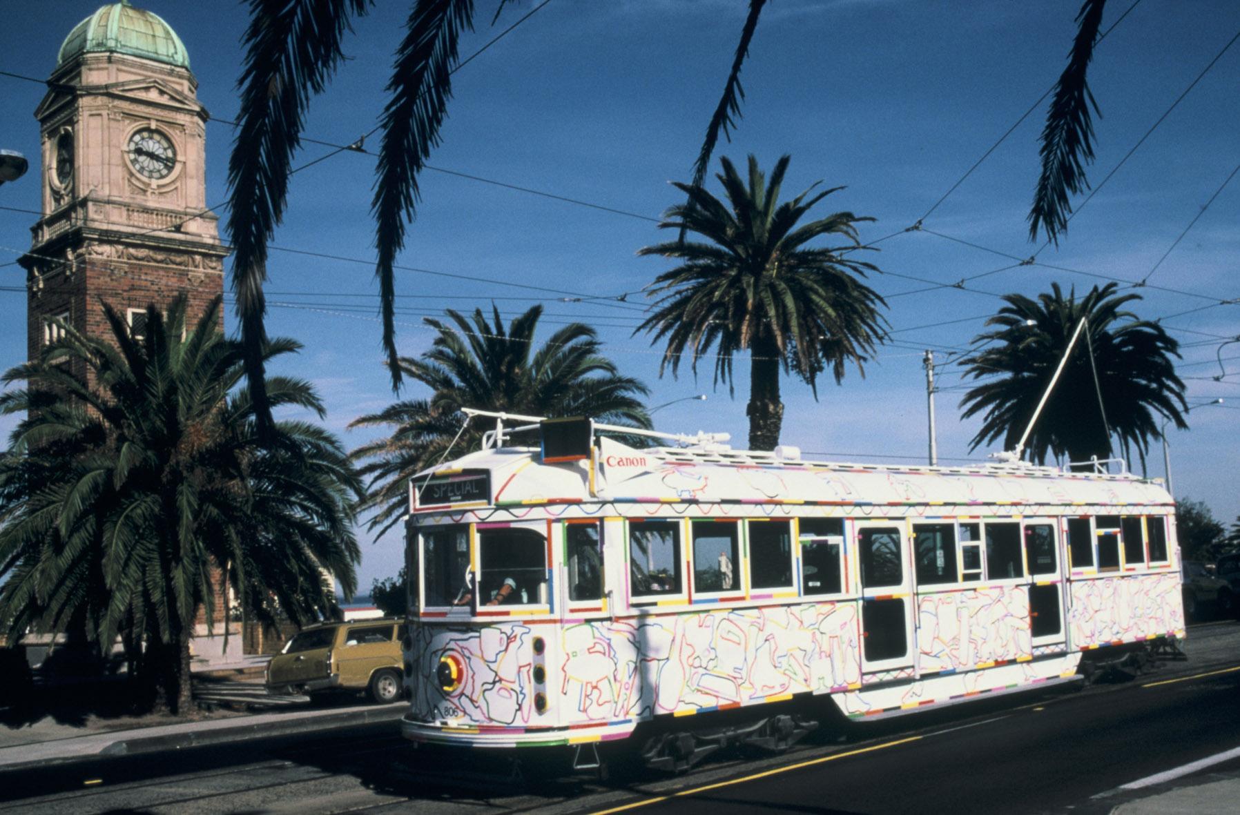 GOWER tram in St.Kilda 1988.jpg