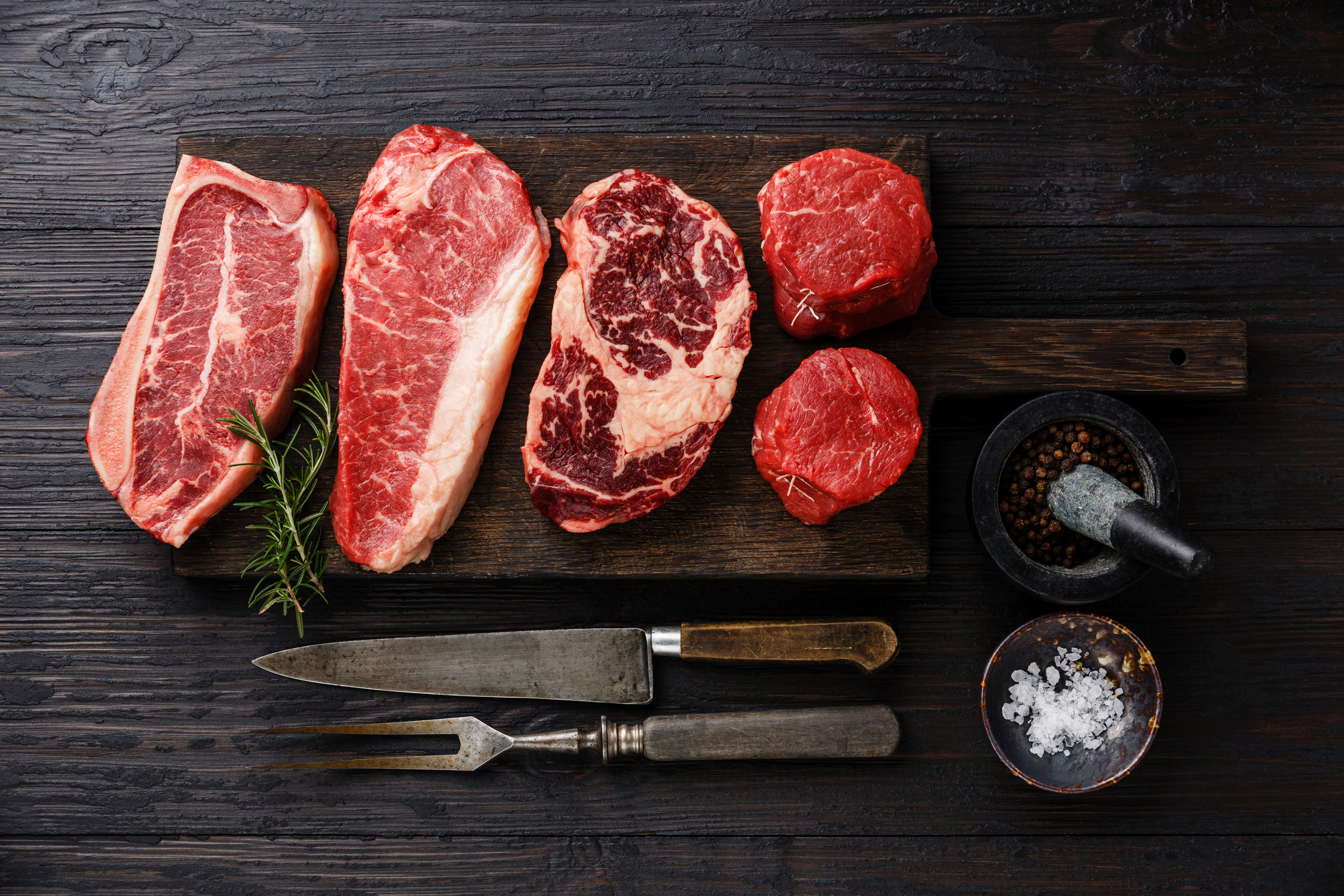 The perfect box for steak lovers!  Includes 8-9 lbs. of delicious grass-fed steaks (t-bone, rib steaks, top sirloin, & more!)  *Meat ships out every Monday, will arrive within 1-3 days frozen.
