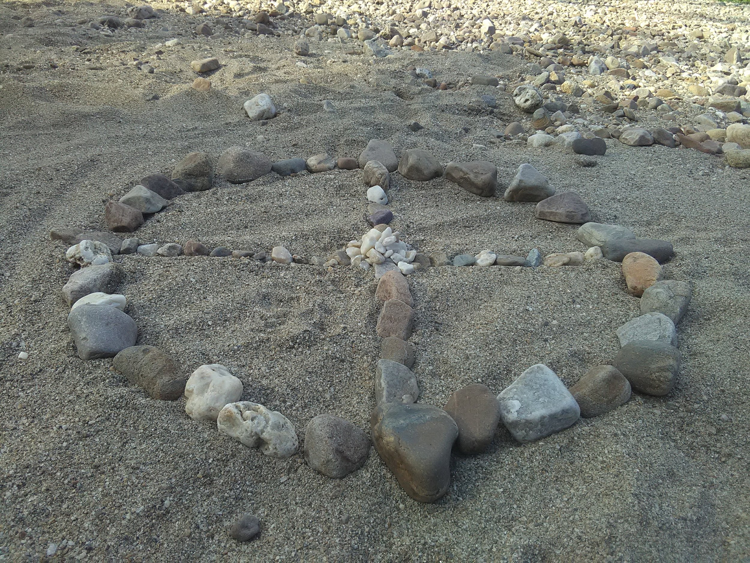 A medicine wheel or one of the many Sacred Circles of Life.
