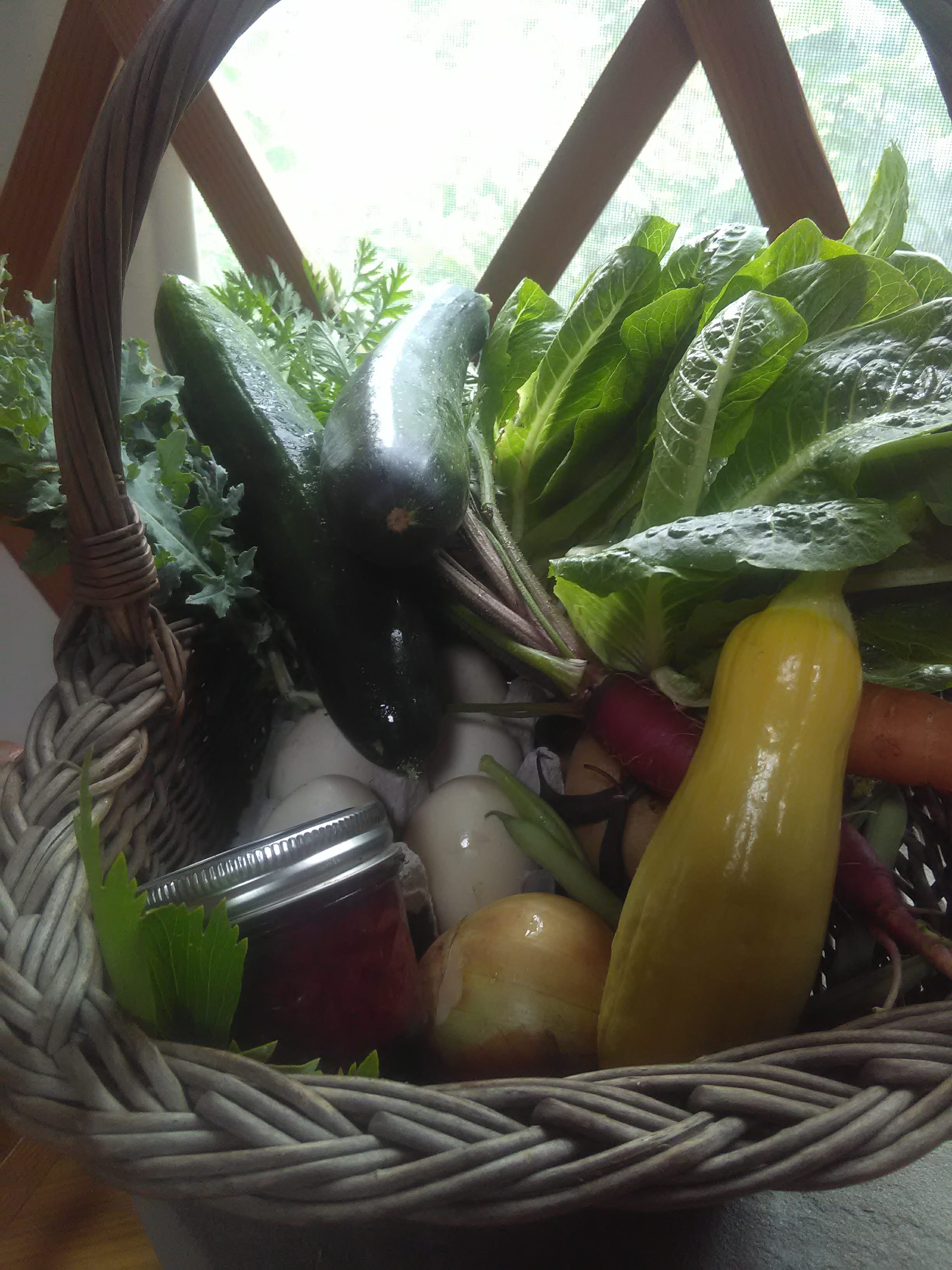 A full basket of bounty, thanks to the Earth and hard work.