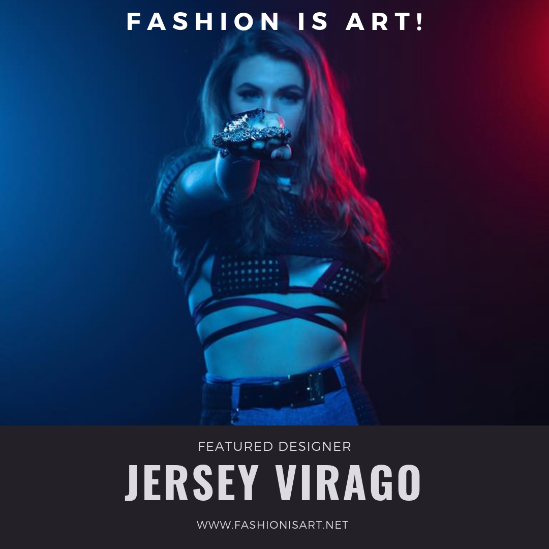 Jersey Virago - Jersey Virago is a Seattle swimwear company founded in 2010 by self taught designer, Meagan Kruz. Mixing bold geographic lines and compelling textures, her designs grab the eye and make a statement. Jersey Virago has been seen in British Vogue, British GQ, and on the television show Americas next top model.Website: www.jerseyvirago.comFacebook: @JerseySeattleDesignerInstagram: @JerseyVirago