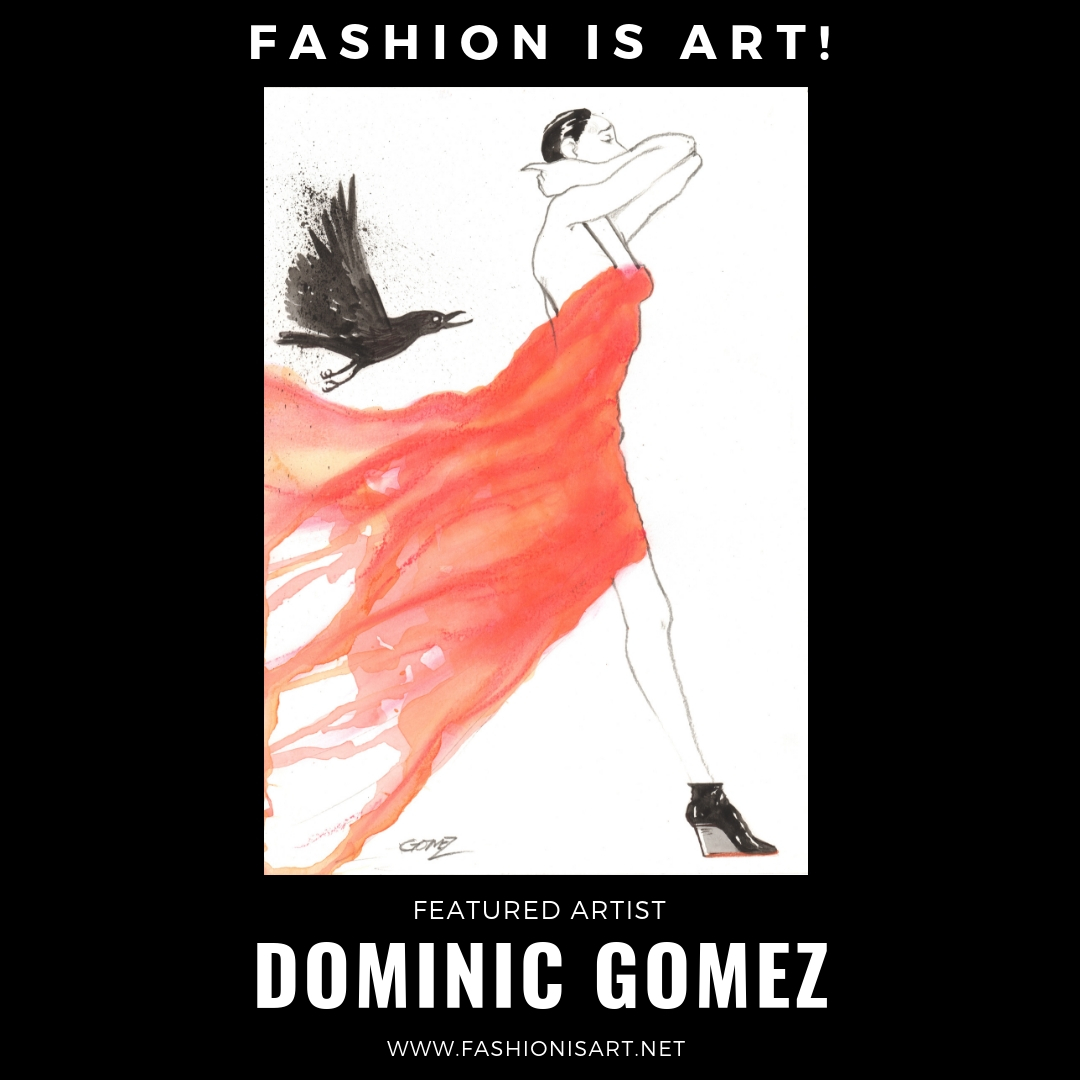 DOMINIC GOMEZ - Dominic is an artist, figurative painter, print-maker, and illustrator. He is an image maker and his imagery is inspired by and comments upon the ephemeral worlds of contemporary style and fashion.He is originally from San Francisco, where he received his BFA at the Academy of Art University. He has been living in Seattle since 2003.Website: www.dominicgomezart.comFacebook: @dominicgomezartInstagram: @dominicgomezart