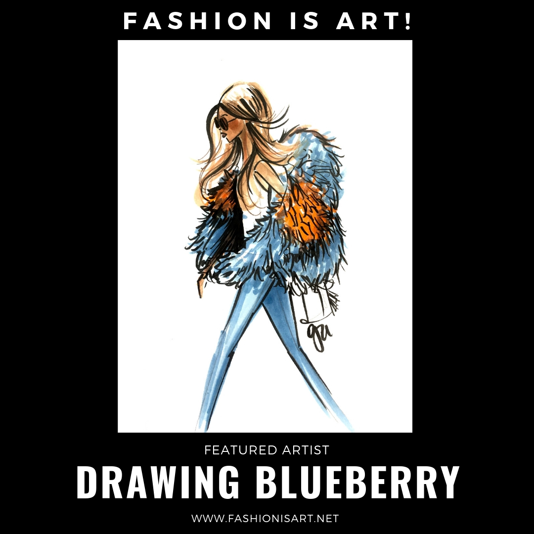 DRAWING BLUEBERRY - Galina Adzhigirey has been drawing ever since she could hold a pencil. Her professional development includes a Bachelor's degree in Elementary Education with a minor in Psychology; art was something that came naturally (just look at all the doodles in her notebooks). She gets inspiration for her vibrant art from everything all around her, including her own two young daughters, and is energized by her love of coffee. When she's not drawing, she enjoys baking, hiking, skiing & and watching oldies movies with her husband. Currently she is a freelance fashion illustrator who participates in fashion/corporate and live sketching events. She is working on writing and illustrating children's books.Website: www.drawingblueberry.com Facebook: @drawingblueberry Instagram: @drawingblueberry