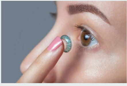 Colored contacts are also available at THE EYE DOCTOR