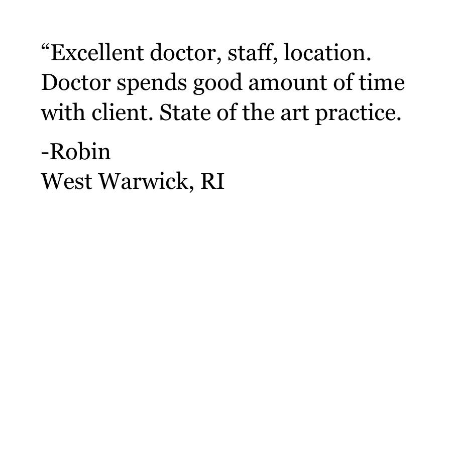 Robin | West Warwick RI | Testimonial