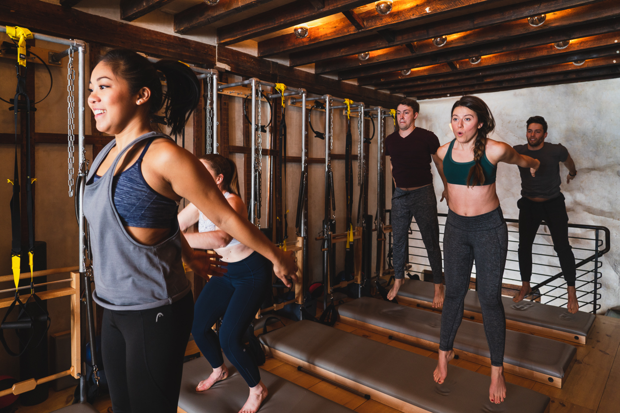 SWEAT - Push yourself to the next level. This cardio-infused strength class keeps you moving and sweating from beginning to end. Mixing in plyometric movement, TRX, and more, you'll get a unique and form-focused higher-intensity session that will leave you energized and wanting more.