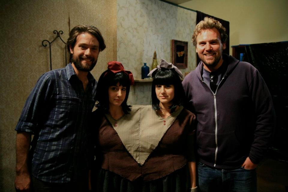 Our glorious producers, Matt Miller & Erich Lochner of  Vanishing Angle  and our fabulous twin stars Lexi & Nikki Ibrahim.