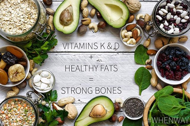 "What to Eat When...you want STRONG BONES? We all know about those milk mustaches 🥛 but there are lots of great foods to help fortify your skeleton too! . Vitamin D & K foods: broccoli collard greens 🥬 kale, spinach, Bok Choy, and of course...SALMON! 🤗 . Calcium rich foods: Spinach, okra, artichokes, figs. . Foods with polyphenols (Also good for bone density): Coffee ☕️ avocados 🥑 walnuts, and tomatoes 🍅 . . More bone fortifying tips in ""What to Eat When"" available now! Link in bio! . . . . . . . . . . . #gethealthy #healthylife #healthyeating #nutrition #weightlosstransformation  #healthy #dieting #diet #vitamind  #instaweightloss #calcium #vitamink #wellnessjourney #cleanliving"