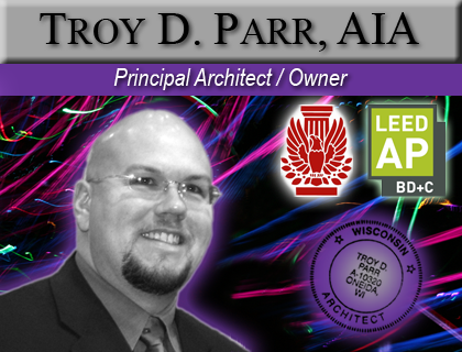Troy D. Parr, AIA - Troy D. Parr, AIA is the Principal Architect and Founder of Design Vision Architects. With over 25 years experience in advanced architectural design visualization, he leads the firm with his passion to produce great design in a variety of areas of architectural practice expertise.