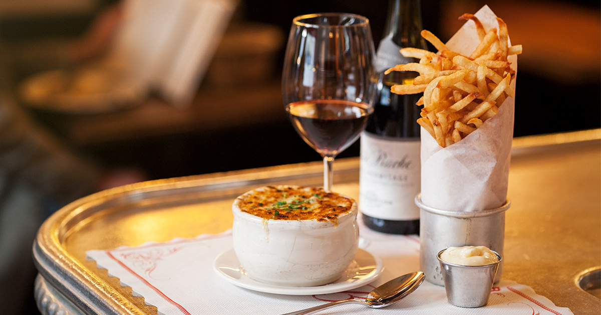 Balthazar - Iconic French brasserie with steak frites, brunch & pastries in a classy space with red banquettes.