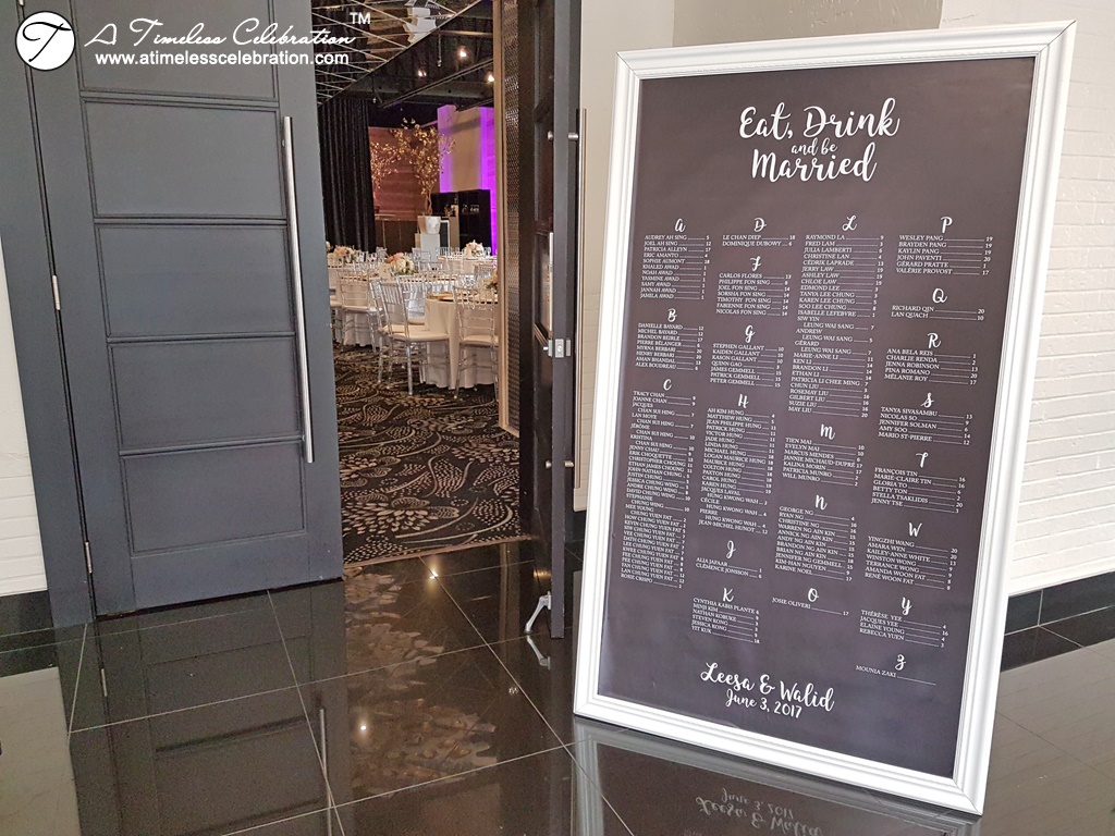 Montreal Wedding Reception Floor Seating Chart at Plaza Antique Montreal