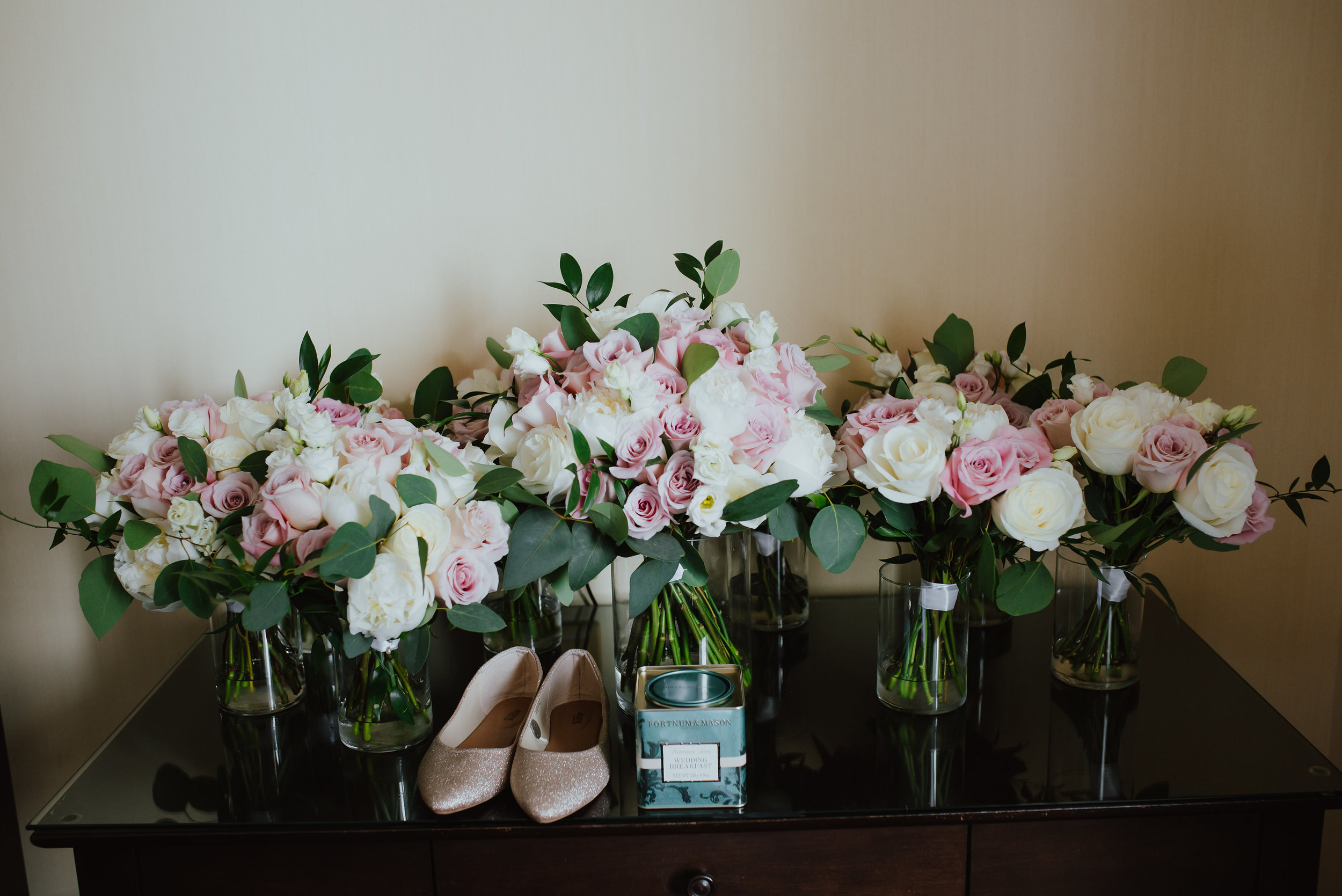 Chic Garden Wedding Flowers Chateau Royal Montreal Laval