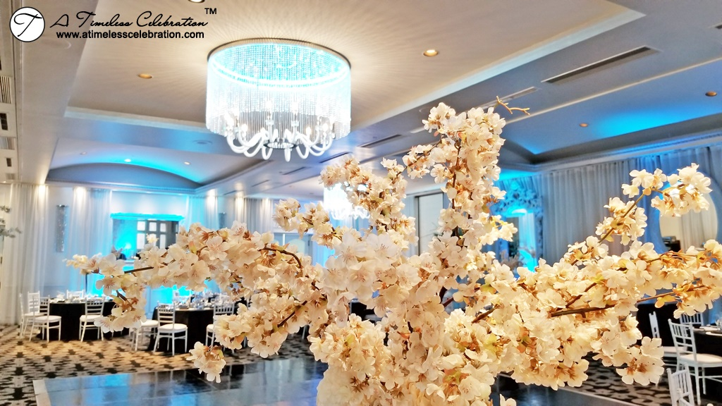 Cherry Blossom Centerpieces Montreal Wedding at Le Madison