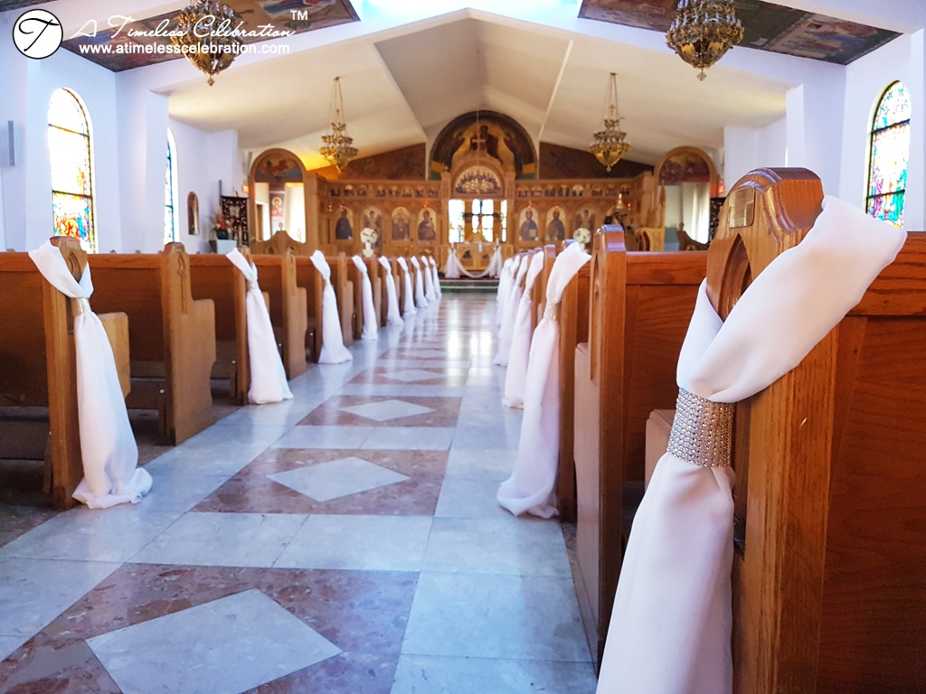 Montreal Wedding Ceremony Decorations & Flowers St Michael's Greek Orthodox Church