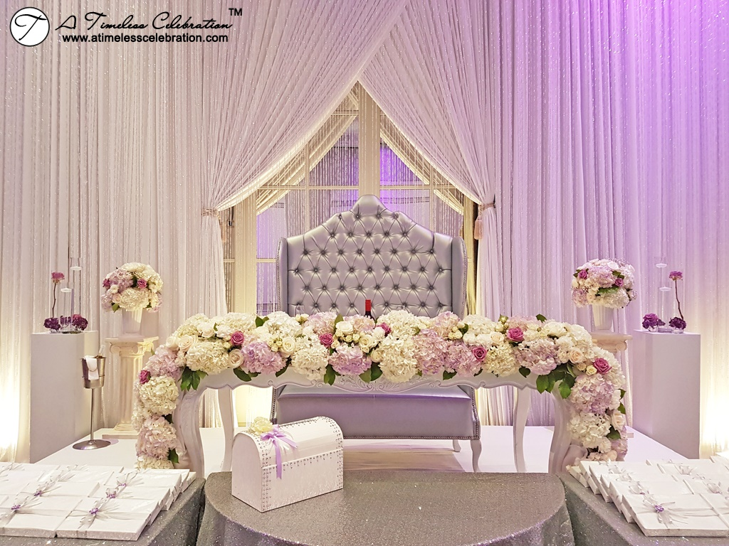 Pink White Wedding Flower Bouquets Centerpieces - Hotel Nelligan Old Montreal