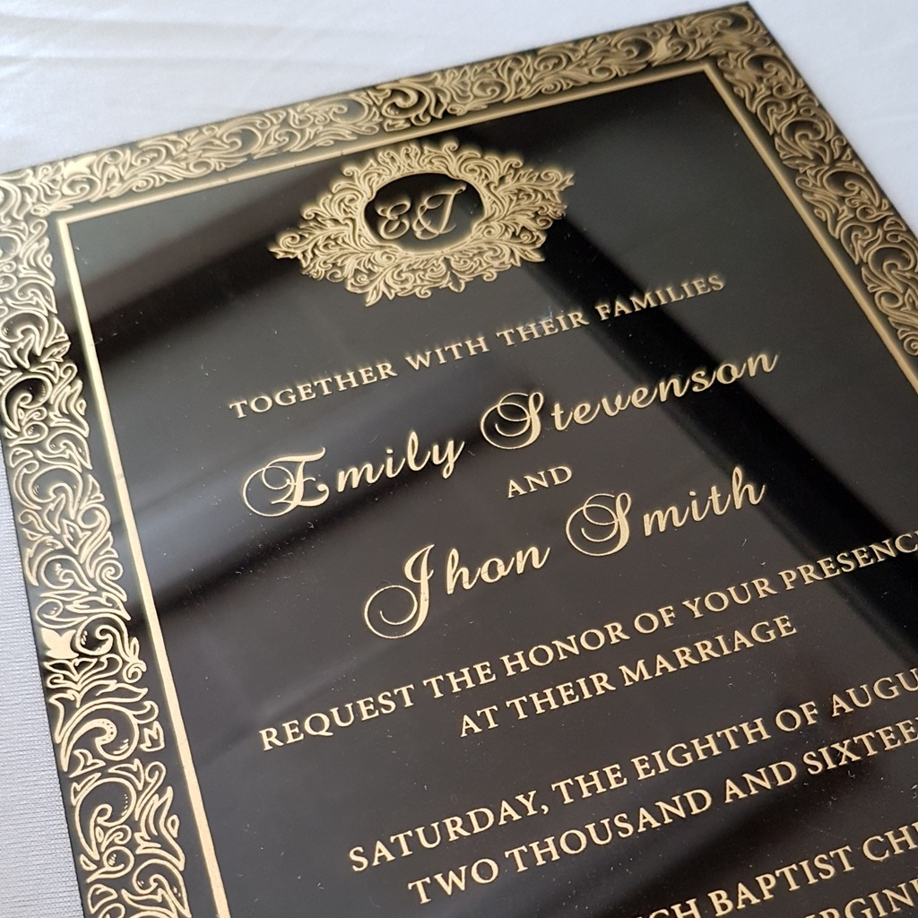 Black Gold Acrylic Wedding Invitations Montreal.jpg