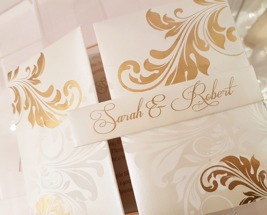 White Gold Hard Cover Wedding Invitations Montreal.jpg