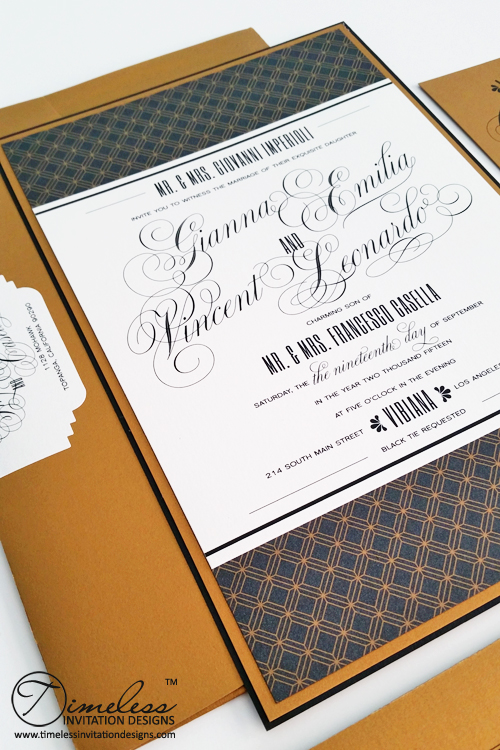 High Quality Black Gold Wedding Invitations Montreal giannavincent2.jpg
