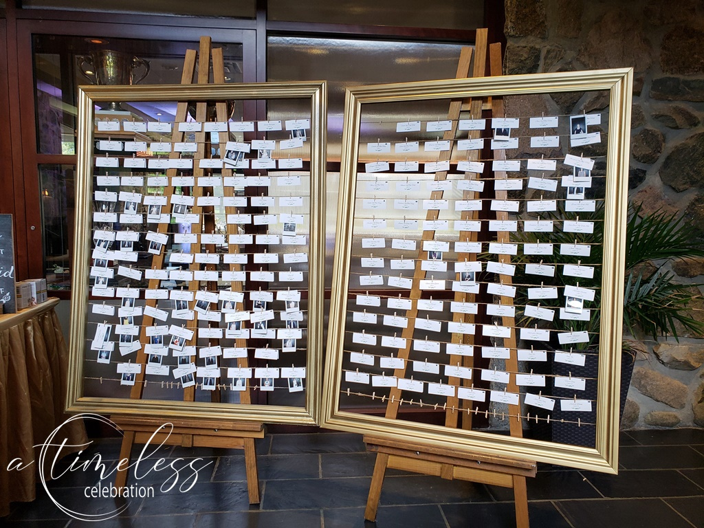 Peach Rustic Wedding at Elm Ridge Golf & Country Club Ile Bizard Montreal Seating Place Card Chart Polaroid Frame 20180901_160602.jpg