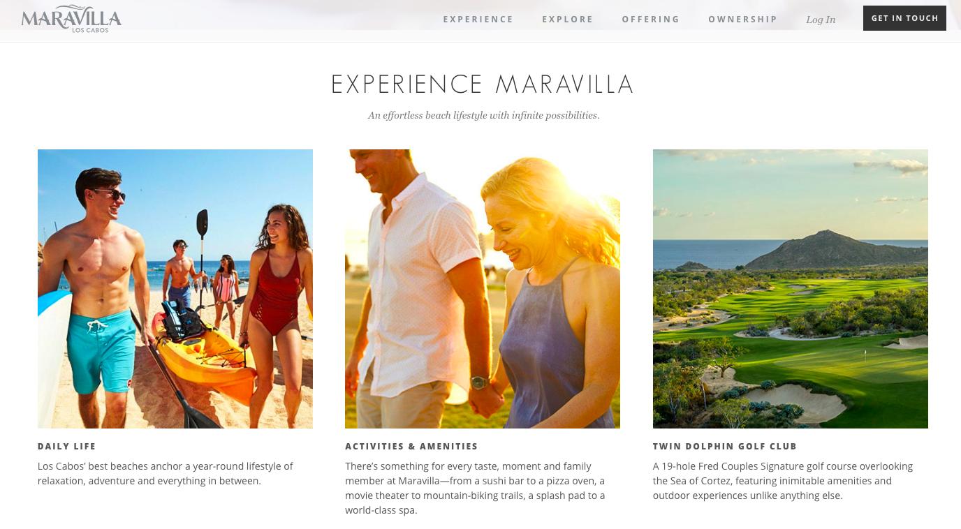 Maravilla Los Cabos - Website copy