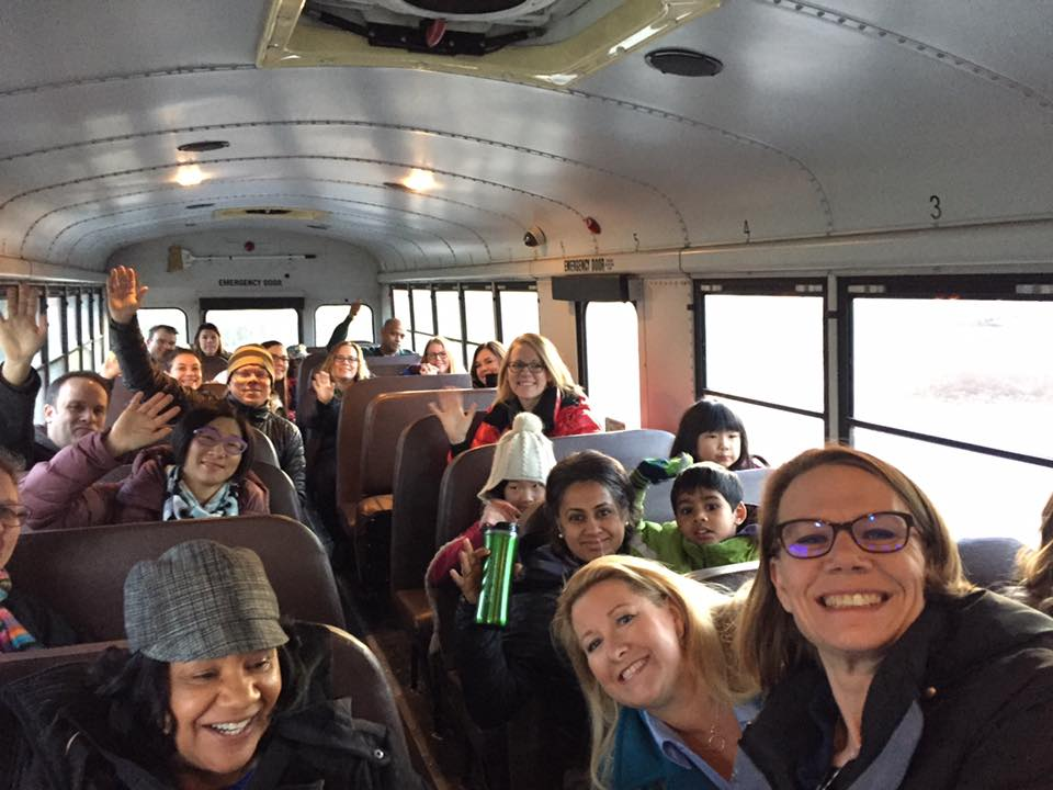 SCPTSA members bus to Olympia in 2017