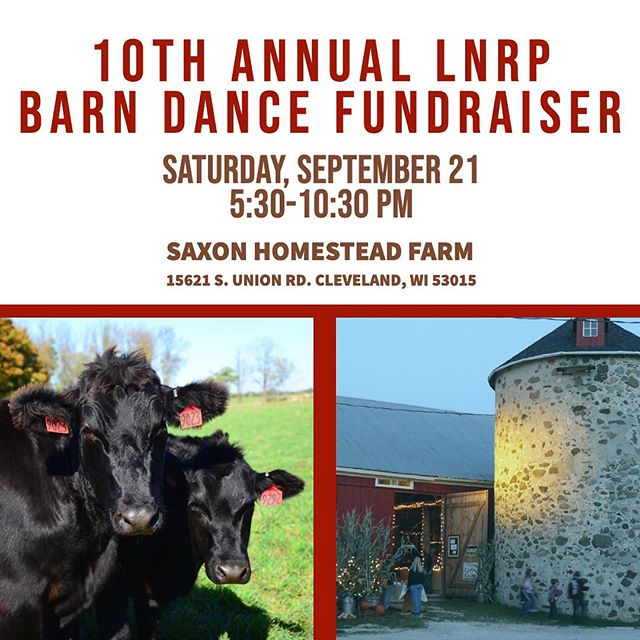Tickets available for this one-of-a-kind farm to table fundraiser!  Help support a good cause! Info & tickets: www.lnrp.org/new-events/barndance