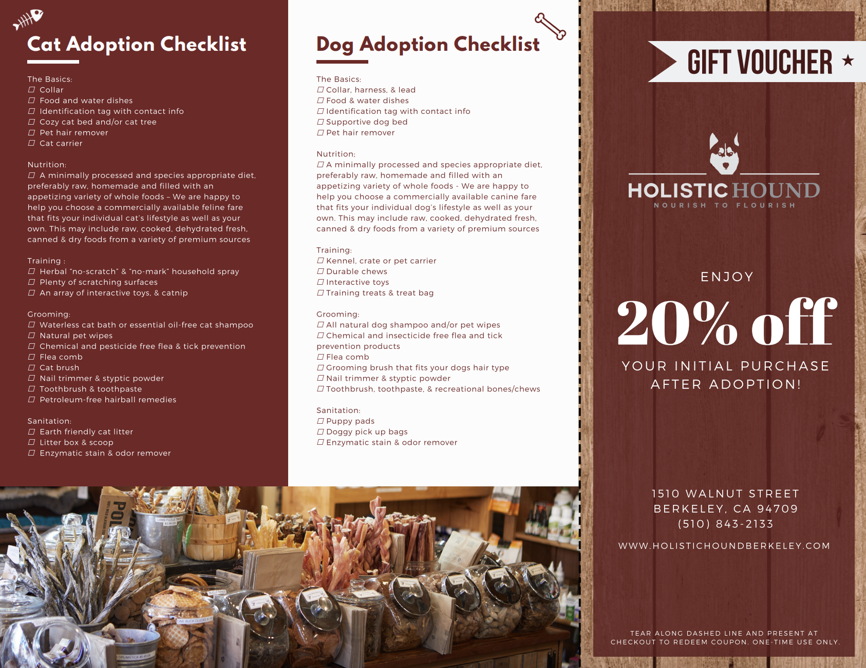 Informational Adoption Brochure & Voucher (Side 2)