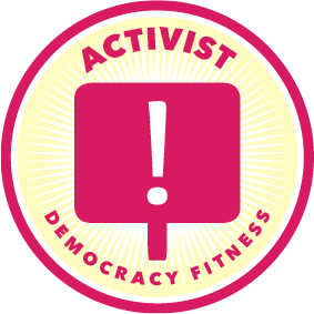 IN A DEMOCRACY, YOU CAN ACHIEVE SOMETHING. GET ON WITH IT!