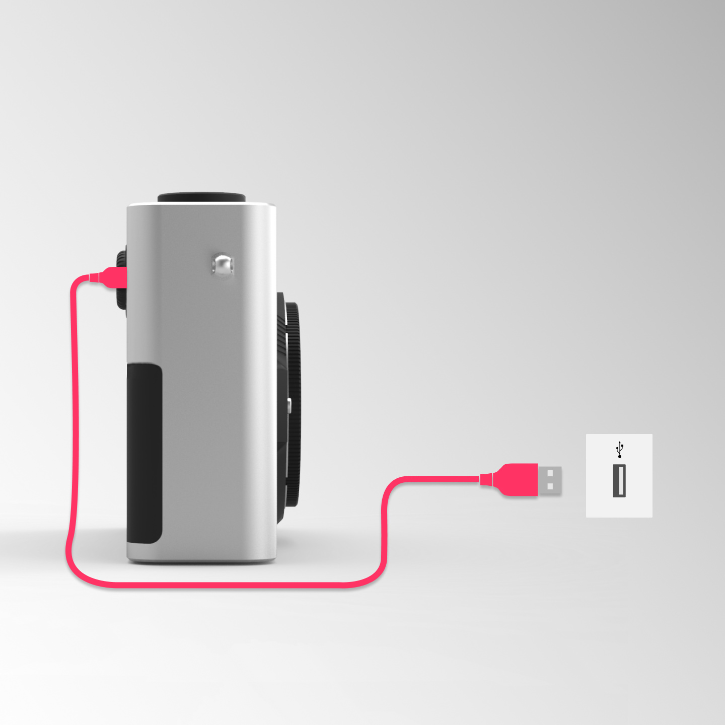 Easy charge. - Holiday photos cut short? Never again! Clunky, proprietary charger? No more! Say good bye to the old battery charger.With Pixii all you need is a standard USB cable.