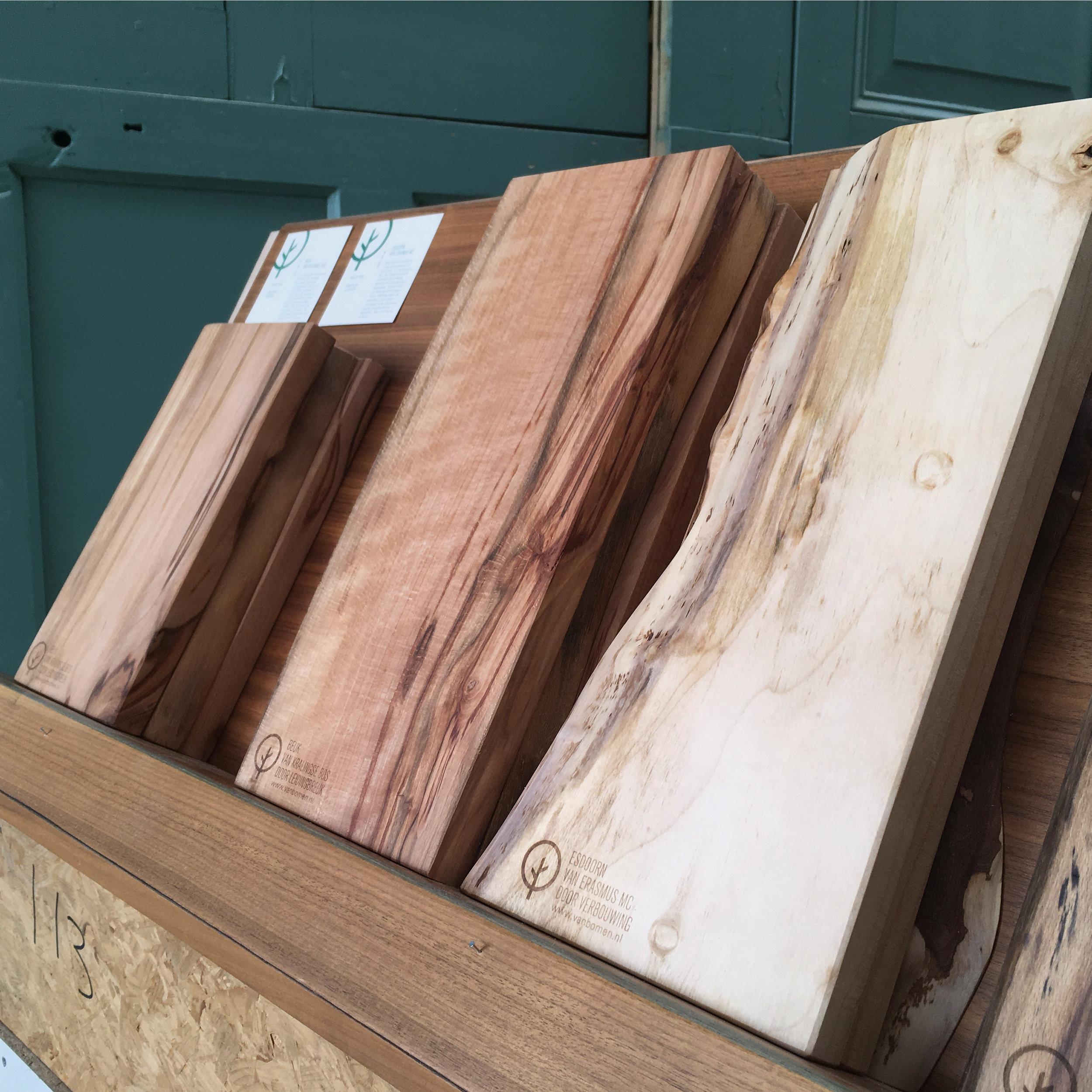 De Van Bomenproducten zijn te koop in onze webshop en liggen o.a. ook in de winkel van Buurman.