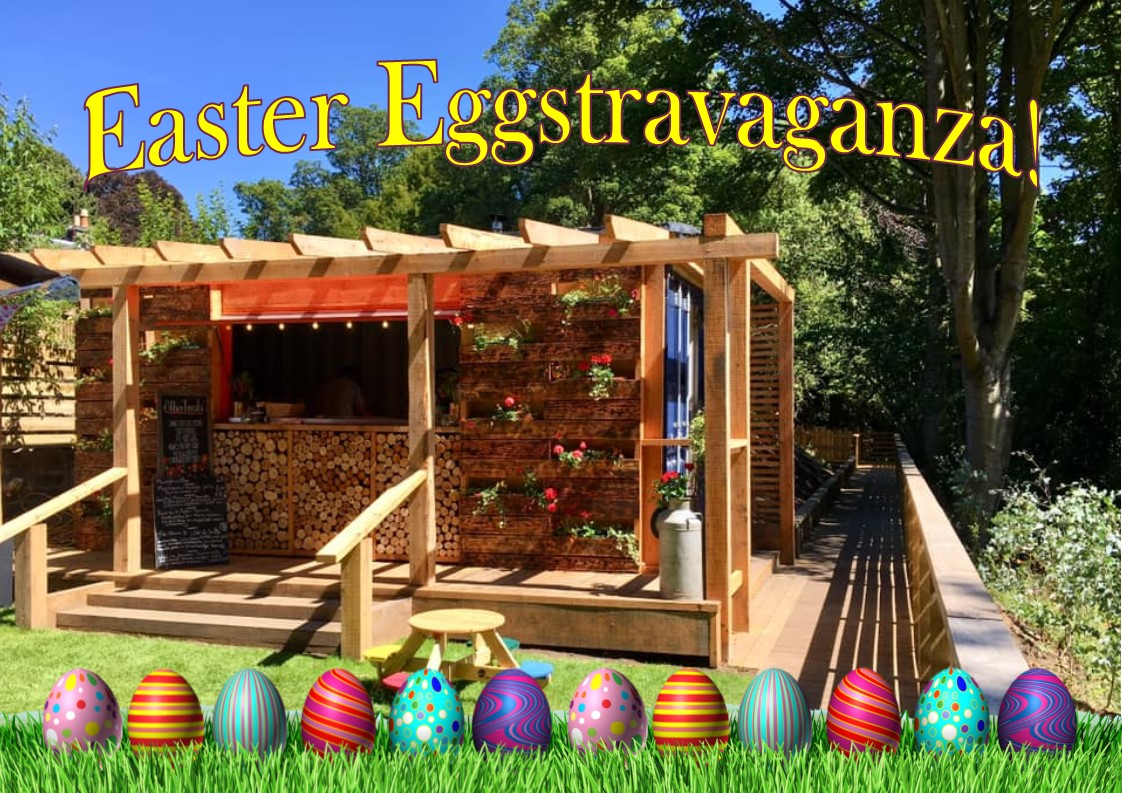 Come and join in the family fun this Easter at our FREE Easter Eggstravaganza Event!  From 12 noon to 4pm    Free: Face Painting Easter Egg Hunt - in our award winning gardens Garden Games Craft Area Paint An Egg Competition  Egg Rolling Championship    We will also have our fire pit lit for toasting marshmallows and The Wood-Kitchen will be open all day serving delicious wood-fired pizza, BBQ food, drinks, ice-cream and other tasty treats.  Don't worry about the weather as we have tee-pees and plenty of indoor spaces to take shelter if required.